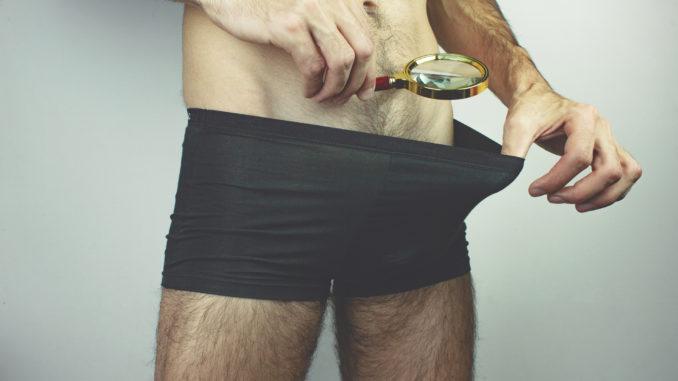 ..Man looking in his underwear