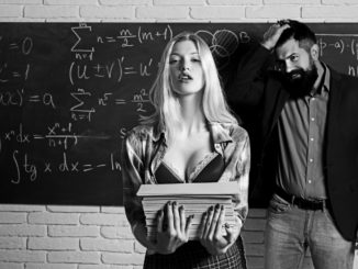 Workplace romance of handsome men and women in university.