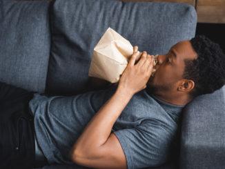 Paper bag breathing technique