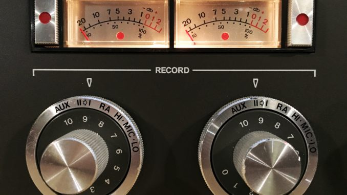 Close up of a recording device in a studio