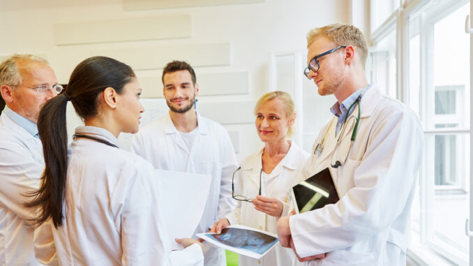 Team of doctors in discussion