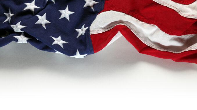 American flag on white for Memorial Day